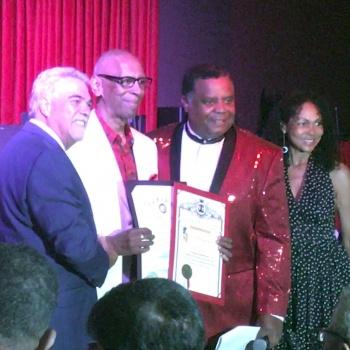 Receiving Jazz Blues Award